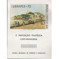 B)1970 BRAZIL, MOUNTAIN, SUGAR LOAF MOUNTAIN, LUSO BRAZILIAN PHILATELIC EXHIBIT