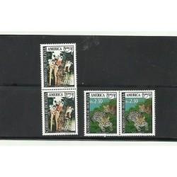 O) 1993 BOLIVIA, AMERICA UPAEP, ANIMALS IN DANGER OF EXTINCTION - SQUIRREL MONKE