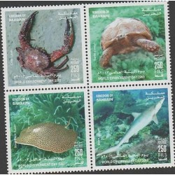 O) 2003 BAHRAIN, MARINE LIFE,WORLD ENVIRONMENT DAY, SET MNH
