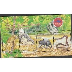 O) 2006 MALAYSIA, SEMI ACUATIC ANIMALS, AMPHIBIANS, REPTILES, HABITAT, SOUVENIR
