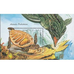 rG)1994 SAHARA, PREHISTORIC ANIMALS, ARCHELON-MOSASAURUS, S/S, MNH