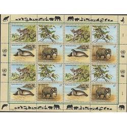 O) 1994 UNITED NATIONS - VIENNA, ANIMALS IN DANGER OF EXTINCTION, TIGRILLO, BIRD