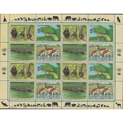 O) 1994 UNITED NATIONS - NEW YORK, ANIMALS IN DANGER OF EXTINCTION, MINI SHEET M