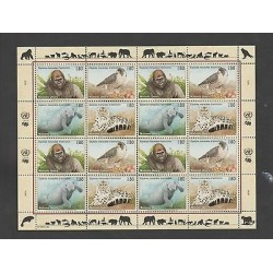 O) 1993 UNITED NATIONS - GENEVA, ANIMALS IN DANGER OF EXTINCTION, PANTHER, SEA W