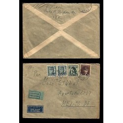 E)1931 CZECHOSLOVAKIA, AIRCRAFT PILOTS, RARE DESTINATION, CIRCULATED COVER TO ME
