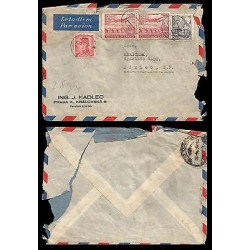 E)1945 CZECHOSLOVAKIA, MILITARY, AVIATOR, AIRPLANE, AIR MAIL, CIRCULATED COVER