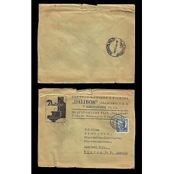 E)1949 CZECHOSLOVAKIA, DALIBOR, OPERA, PIANO, RARE DESTINATION, CIRCULATED COVE