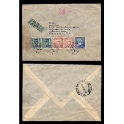 E)1945 CZECHOSLOVAKIA, STEFANIK-BENES-MASARYK, PRESIDENT EDUARD BENES, CIRCULATE