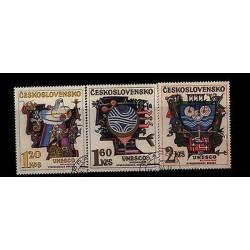 E) 1974 CZECHOSLOVAKIA, ANNIVERSARY UNESCO, SET, MNH