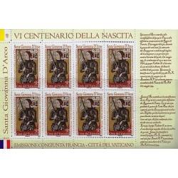 RG)2012 VATICAN, JOAN OF ARC-SWORD-ANGELS COAT OF ARMS, VI CENTENARY OF JOAN OF