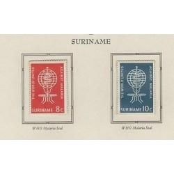 O) 1962 SURINAME, AGAINST MALARIA, WHO MALARIA, SET MNH