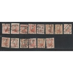 O) 1872 MEXICO, GARBANCITOS LOT DIFFERENT TYPES, VALUES AND CANCELLATIONS. SOME