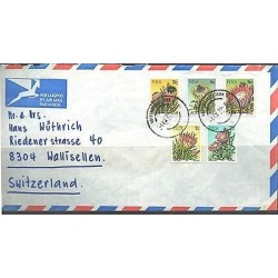 O) 1977 SOUTH AFRICA, PROTEA - CACTUS, COVER TO SWITZERLAND, XF