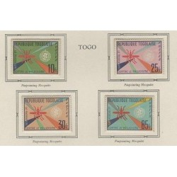 o) 1962 TOGO, AGAINST MALARIA, MOSQUITO, SET MNH