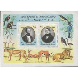 G)1989 GERMANY, BIRDS-MONKEY-FLAMINGO-LEOPARD-GAZELLE-LION, ALFRED EDMUND & CHRI
