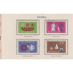 O) 1962 NIGERIA, MOSQUITO AND LARVA, ZANCUDO TRANSMITS MALARIA, MNH