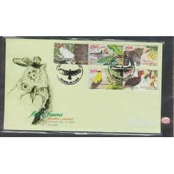 O) 2008 INDONESIA, BIRDS, FISH, PANTHER, FDC UNUSED XF