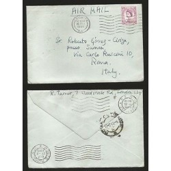 E)1965 GREAT BRITAIN, QUEEN ELIZABETH II, AIR MAIL, CIRCULAR COVER CHISWICK