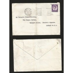 E)1965 GREAT BRITAIN, QUEEN ELIZABETH II, VIOLET STAMP, CIRCULAR COVER GLASCOW