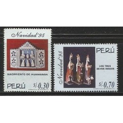 E)1996 PERU, BIRTH OF HUAMANGA, CHRISTMAS, NATIVITY SCENE WITH FOLDING PANEL