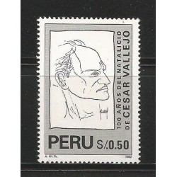 E)1996 PERU, CESAR VALLEJO (1892-1938), WRITER, 1142 A498, MNH