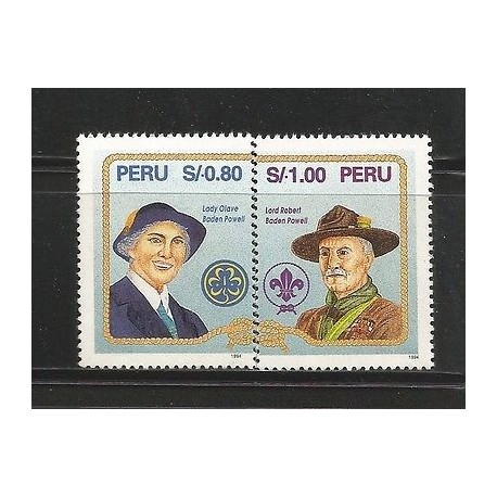 E)1995 PERU, SCOUTING, LADY OLAVE BADEN-POWELL, LORD ROBERT BADEN-POWELL, A487