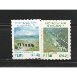 E)1995 PERU, ELECTRICITY FOR DEVELOPMENT, TAKING HUINCO, ANTACOTO LAKE, 1130