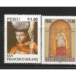 E)1995 PERU, PERUVIAN SAINTS, ST. TORIBIO OF MOGROVEJO, ST. FRANCISCO SOLANO