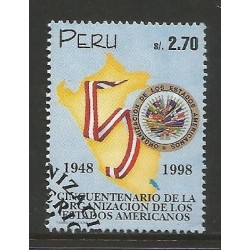 E)1998 PERU, ORGANIZATION OF AMERICAN STATES, (OAS), 50TH ANNIV, 1174, A521, MNH