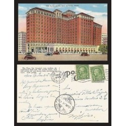 B)1938 USA, ONE CENT GREEN, BENJAMIN FRANKLIN , BLOCK OF 2, THE PLAZA HOTEL,