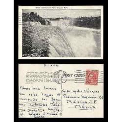 B)1937 USA, TWO CENTS RED WASHINGTON, NIAGARA FALLS NY, MEXICAN MARK CARTEROS 1