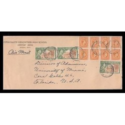 E)1945 JAMAICA, KING GEORGE VI, A36, BLOCK OF 8, CITRUS GROVE, A40, PAIR OF 3,
