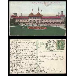 B)1922 USA, ONE CENT GREEN WASHINGTON,REDONDO BEACH , CA, BATHING PAVILION, P