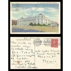 B)1937 USA, ARCHITECTURE, BUILDINGS, TWO CENTS RED WASHINGTON, NEW POST OFFICE B