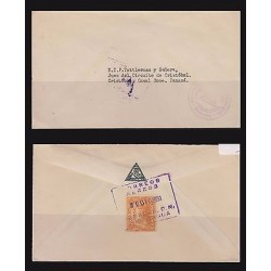 B) 1951 NICARAGUA, LEON CATHEDRAL OF 1914 OFICIAL OVERPRINTED IN RED, 20 CENT,