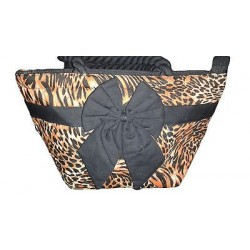 Animal print handbag. 12.99 x 7.89 in