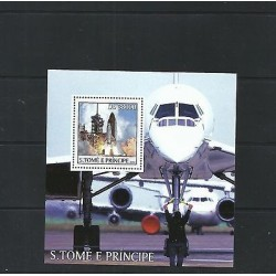 O) 2003 SAO TOME AND PRINCIPE, SPACE ROCKET DB 38000, SOUVENIR MNH