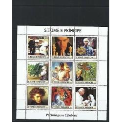O) 2003 SAO TOME AND PRINCIPE,POPE JOHN PAUL II,ORNITHOLOGIST JOHN AUDUBON,NELSO