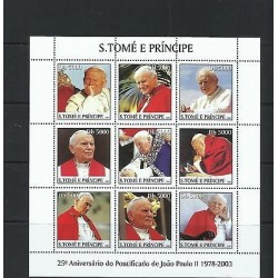 O) 2003 SAO TOME AND PRINCIPE, POPE JOHN PAUL II, MINI SHEET, MNH