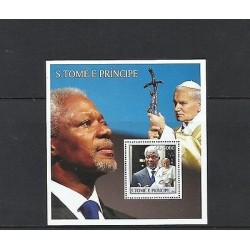 O) 2003 SAO TOME AND PRINCIPE, POPE JOHN PAUL II,NOBEL PEACE PRIZE 2001, SECRETA