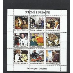 O) 2003 SAO TOME AND PRINCIPE,POPE JOHN PAUL II,ASTRONOMER RENAISSANCE-HELIOCENT