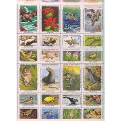 E)1980 USA, NATIONAL WILDLIFE FEDERATION, CONSERVE WILDLIFE, WWF, ANIMALS, FLOWE