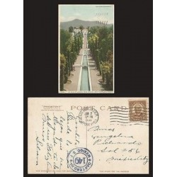 B)1938 USA, BROWN 1 1/2 CENTS, WARREN G. HARDING, IN AIXS OF GARDEN FROM CASINO,