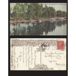 B)1931 CANADA, LAKE, SAILBOATS, 2 CENTS RED KING GEORGE V, THE LAGOON, CENTRE I
