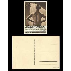 B)1940 GERMANY, SUN LAMP, WOMEN, NUDE, ARTIFICIAL SUNLAMPS, LIFE ABILITY TO ME