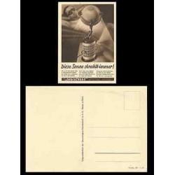 B)1940 GERMANY, SUN, LAMP, MEN, ARTIFICIAL SUNLAMPS, ORIGINAL HANAU, UNUSED POST