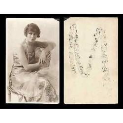 B)1910 USA, MOVIE ACTRESS, CINEMA STARS, PEGGY HYLAND, VINTAGE, POSTCARD