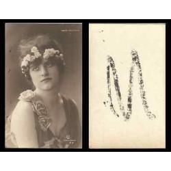 B)1910 CARIBBEAN, DANCER, PORTRAIT, WOMEN, NORKA ROUSKAYA, POSTCARD