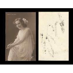 B)1910 CARIBBEAN, ACTRESS, LADY, SINGER, CONSUELO MAYENDÍA, VINTAGE, UNUSED, PO