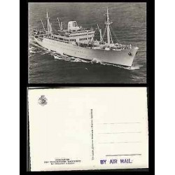 B)1910 FRANCE, BOAT, MARITIME, SEA, PAQUEBOT FRACES, LEON, MARITIME COURIER COMP